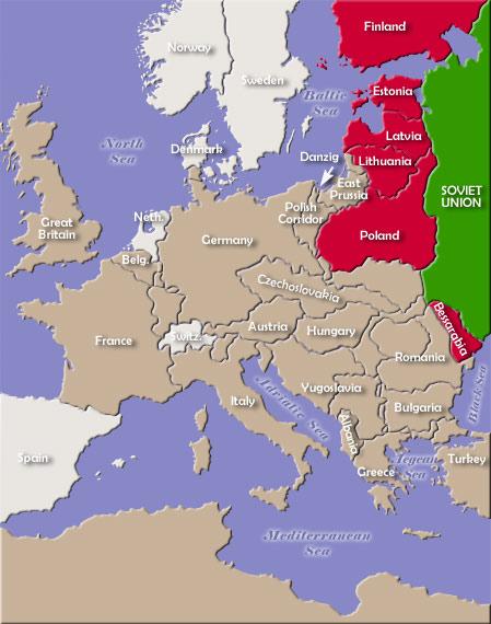 """Russland måtte gå med på å miste masse land etter første verdenskrig, på tross av at de var på """"riktig"""" side under krigen."""