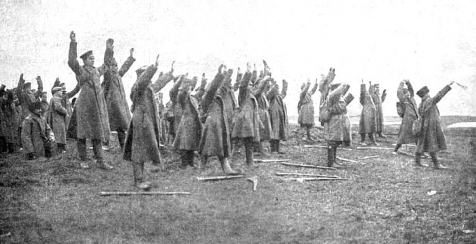 Russerne tapte en hel arme i slaget ved Tannenberg.