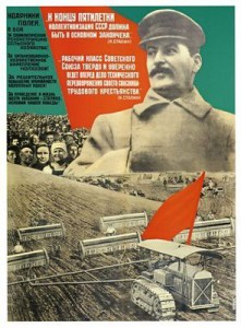 Planøkonomi under Stalin innebar at ALT i økonomien skulle detaljplanlegges. Bilde: Actionposters.co.uk